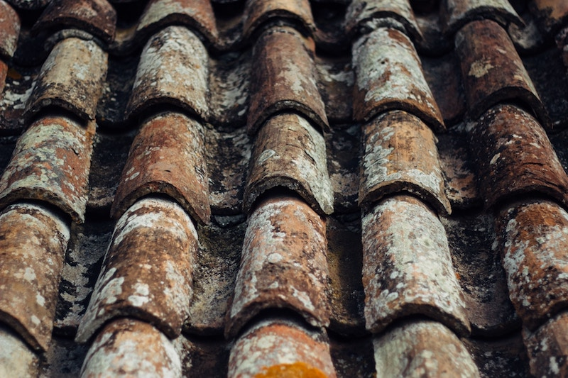 tiles on a roof